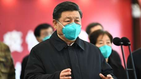 Chinese President Xi Jinping talks by video with