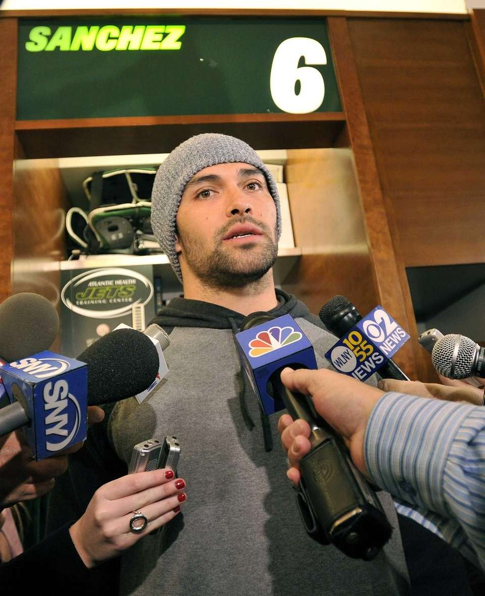 Mark Sanchez answers questions about his future with