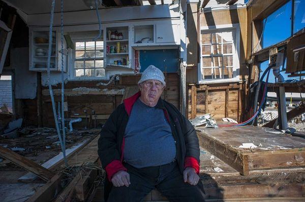 Albert Silberman visits his home in Lindenhurst almost