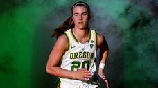 Sabrina Ionescu #20 of the Oregon Ducks is