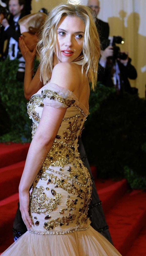 Scarlett Johansson attends the Costume Institute Benefit at