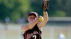 Bay Shore pitcher Erika Sullivan throws against Connetquot