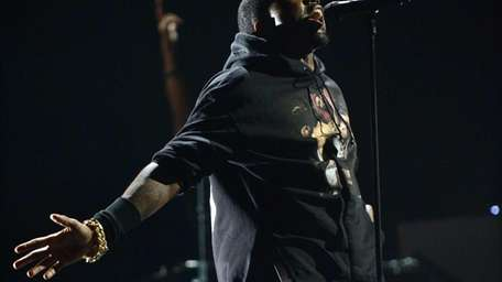 Kanye West performs at