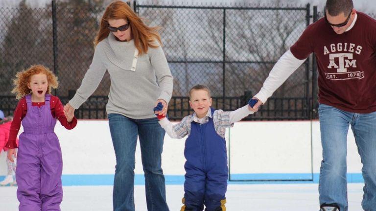 Take the kids ice skating on Long Island.