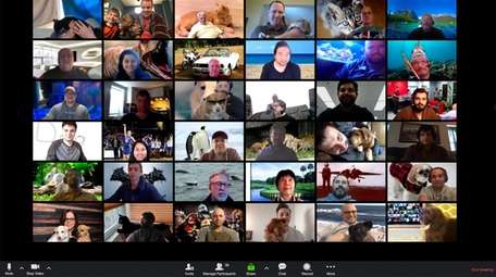 The IPS team shares virtual happy hour with