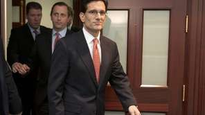 House Majority Leader Eric Cantor (R-Va.) leaves a