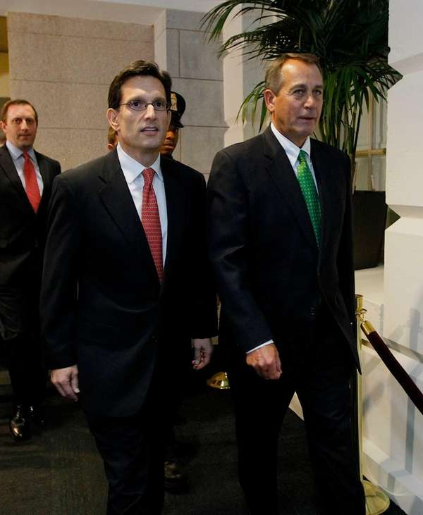 Rep. Eric Cantor (R-Va.), left, and House Speaker