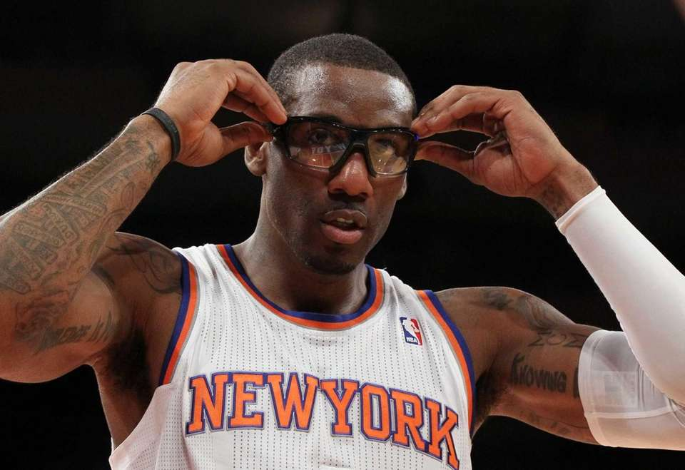 Amar'e Stoudemire looks on during a game against