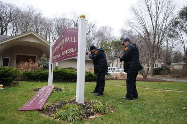 A crime scene investigator probes criminal mischief to