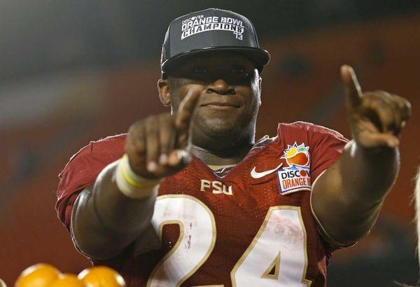 Florida State Seminoles fullback Lonnie Pryor symbols No.