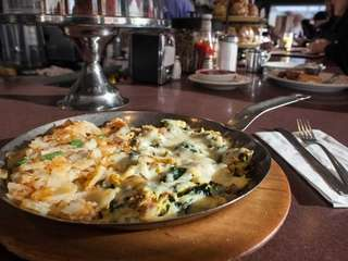 Eggs, cheese and spinach combine nicely in the