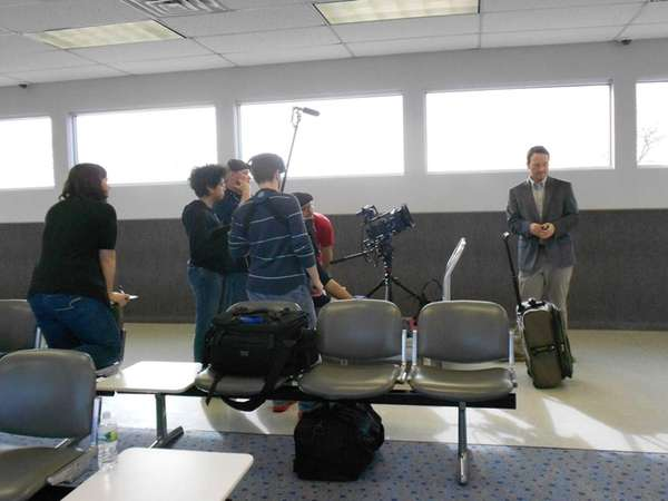 A crew films the 2012 independent movie quot;Looking