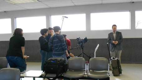 A crew films the 2012 independent movie