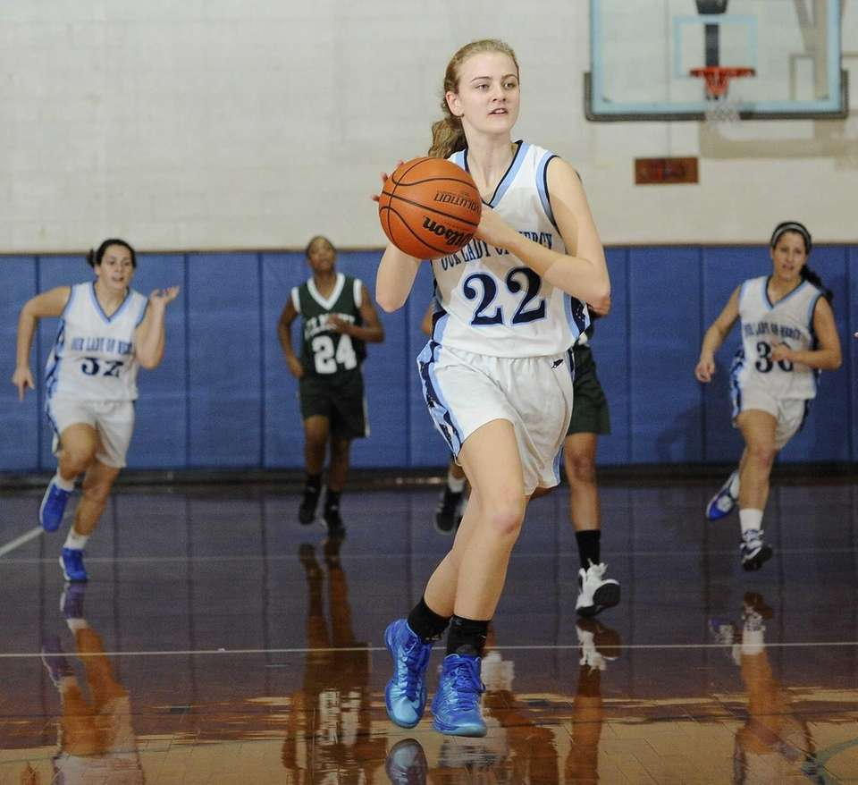 Our Lady of Mercy's Marilyn Lehmuller drives to