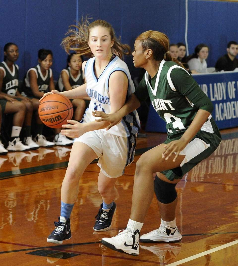 Our Lady of Mercy's Samantha Lynch drives past