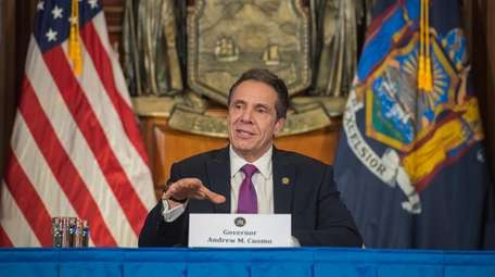Gov. Andrew M. Cuomo delivers his daily news