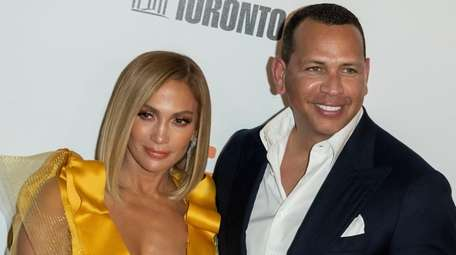 Jennifer Lopez, and Alex Rodriguez arrive for the