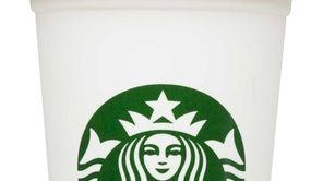 A reusable Starbucks cup.