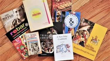 Buying cookbooks while traveling allows the author to
