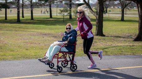 Cindy Grove, of Smithtown, takes her mom, Pattie
