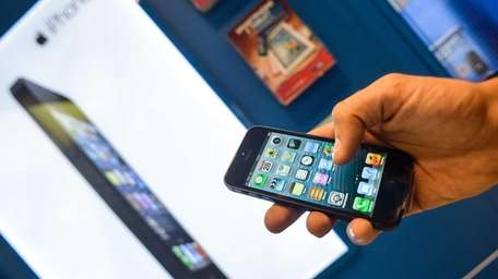 An Apple iPhone 5. Mom and dads can