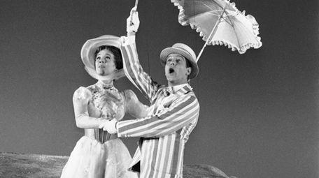Dick Van Dyke (left) is airborne during