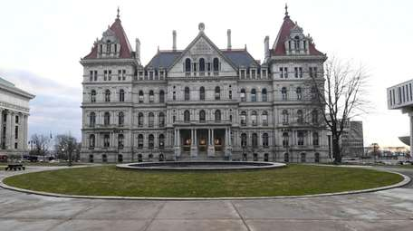 The New York state Capitol building. Local and