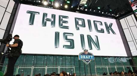 """A video board displays the text """"THE PICK"""