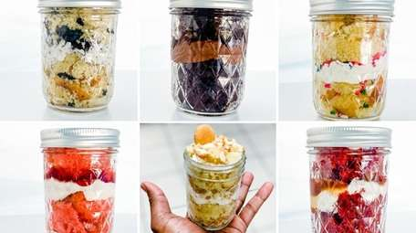 Cake jars, a specialty of Sydney's Sweets in