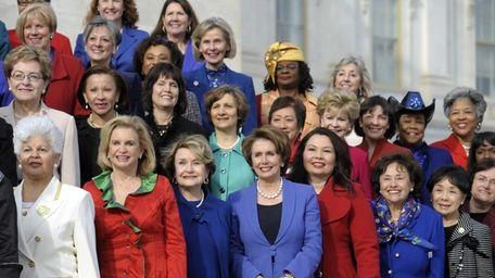 House Minority Leader Nancy Pelosi of Calif., front