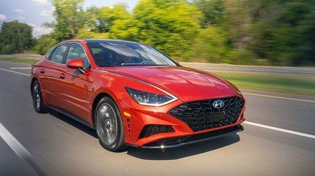The 2020 Hyundai Sonata has a sleek and