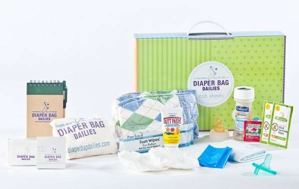 Diaper Bag Dailies are compact kits that include