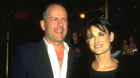 Former spouses Bruce Willis and Demi Moore, seen