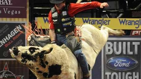 Guilherme Marchi at the Professional Bull Riders Built
