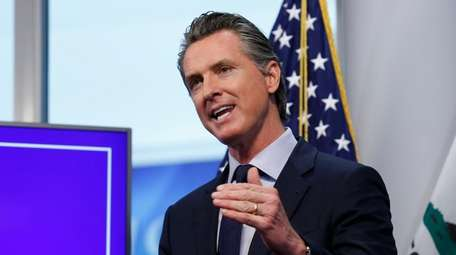 California Gov. Gavin Newsom on April 14.