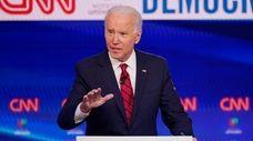 Vice President Joe Biden participates in a Democratic