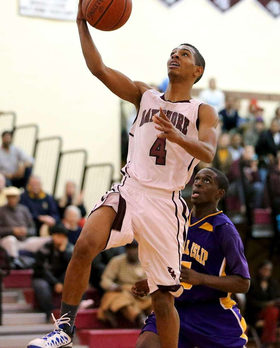 Bay Shore's Bryson Lassiter puts in the layup