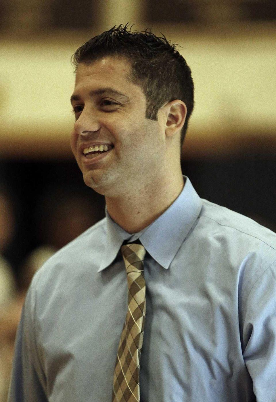 Huntington girls varsity basketball head coach Mike Kaplan