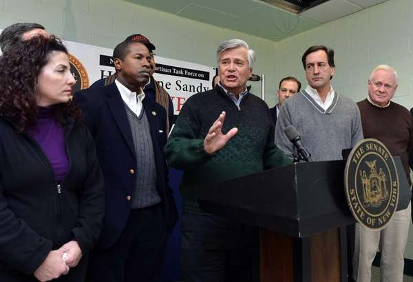 Senate Republican Conference Leader Dean Skelos was joined