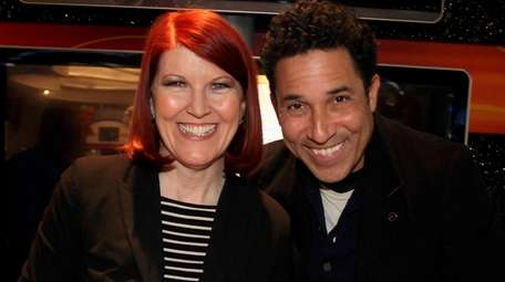 """Kate Flannery and Oscar Nuñez from """"The Office"""""""