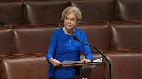 In this image from video, Rep. Carolyn Maloney
