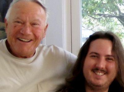 Adam with his grandfather Irving Belleer.  Adam