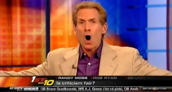 ESPN's Skip Bayless is shown in this undated