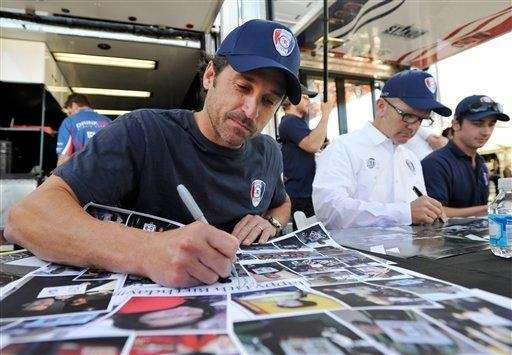 From left, Patrick Dempsey, Joe Foster and Dane