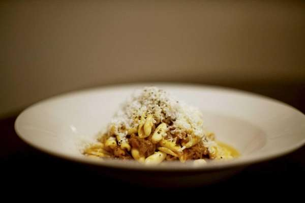 Vero's cavatelli, served with braised, pulled pork plus
