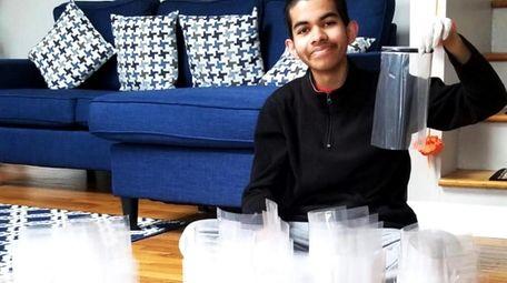 Fifteen-year-old Jericho resident Sujay Sundar helped make 200