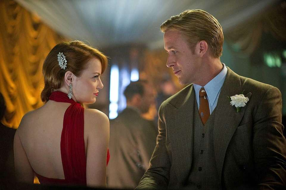 "Emma Stone and Ryan Gosling in ""Gangster Squad."""