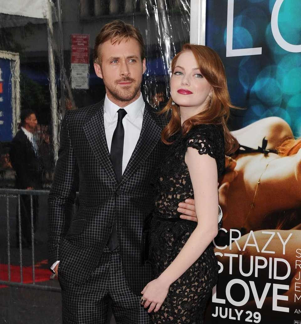 Ryan Gosling and Emma Stone attend the premiere