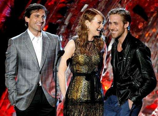 Steve Carell, Emma Stone and Ryan Gosling present