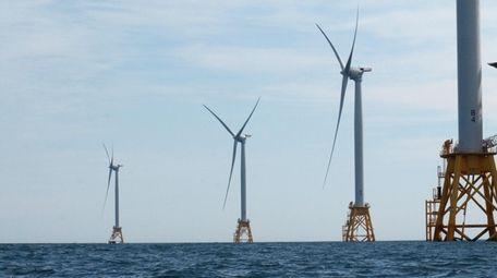 Deepwater Wind offshore wind farm at Block Island
